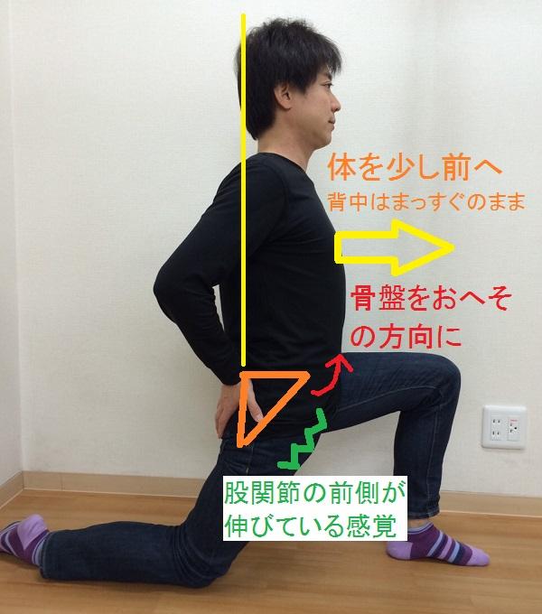 腸腰筋のストレッチ2